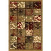 LA Rug Inc. 125/60 Melange Collection, brown, olive green, red and black, and cream colors 2 ft. x 4 ft. Indoor Accent Rug