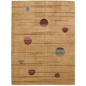 Nourison Overstock Parallels Gold 2 ft. 3 in. x 3 ft. 9 in. Area Rug