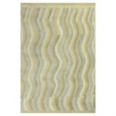 Kas Rugs Moroccan Waves Slate/Cream 3 ft. 3 in. x 5 ft. 3 in. Area Rug
