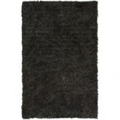 Lanart Palazzo Shag Charcoal 3 ft. x 4 ft. 6 in. Area Rug