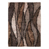 Kas Rugs Shag Finesse 10 Taupe/Grey 3 ft. 3 in. x 5 ft. 3 in. Area Rug