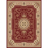 Tayse Rugs Sensation Red 5 ft. 3 in. x 7 ft. 3 in. Traditional Area Rug