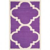 Safavieh Cambridge Purple/Ivory 3 ft. x 5 ft. Area Rug