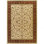 Natco Sapphire Sarouk Ivory 5 ft. 3 in. x 7 ft. 7 in. Area Rug