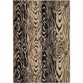 Martha Stewart Living Layered Faux Bois Coffee/Black 5 ft. 3 in. x 7 ft. 7 in. Indoor/Outdoor Area Rug