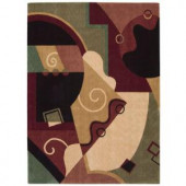 Nourison Rug Boutique Watercolors Multicolor 2 ft. 3 in. x 3 ft. 9 in. Area Rug
