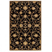 Home Decorators Collection Paloma Black/Gold 2 ft. x 3 ft. Area Rug