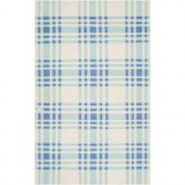 Surya Country Living Powder Blue 5 ft. x 8 ft. Flatweave Area Rug