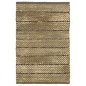 LR Resources Natural Fiber Brown 5 ft. x 7 ft. 9 in. Braided Indoor Area Rug