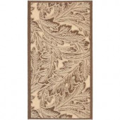 Safavieh Courtyard Natural/Chocolate 2 ft. x 3 ft. 7 in. Area Rug