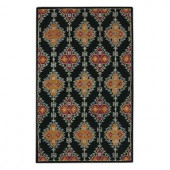 Home Decorators Collection Loire Black 9 ft. 9 in. x 13 ft. 9 in. Area Rug