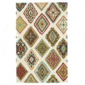 Loloi Rugs Olivia Life Style Collection Ivory Multi 3 ft. 6 in. x 5 ft. 6 in. Area Rug