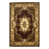 Kas Rugs Aubusson Plum/Ivory 5 ft. 3 in. x 7 ft. 7 in. Area Rug