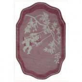LA Rug Inc. Supreme Pink Toile 39 in. x 58 in. Area Rug