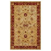 Kas Rugs Antiquity Tabriz Sand/Rust 3 ft. 3 in. x 5 ft. 3 in. Area Rug