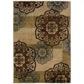 Oriental Weavers Camille Keaton Beige 3 ft. 2 in. x 5 ft. 5 in. Area Rug
