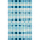 Surya Country Living Blue Jay 5 ft. x 8 ft. Flatweave Area Rug