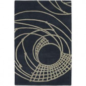 Chandra Parson Charcoal/Taupe 7 ft. 9 in. x 10 ft. 6 in. Indoor Area Rug