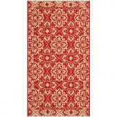 Safavieh Courtyard Red/Creme 2 ft. x 3.6 ft. Area Rug
