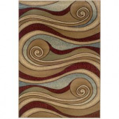 LR Resources Contemporary Brown and Blue Rectangle 7 ft. 9 in. x 9 ft. 9 in. Plush Indoor Area Rug