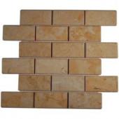 Splashback Tile Jer Gold Bev 12 in. x 12 in. Natural Stone Floor and Wall Tile