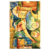 Kas Rugs Abstract City Multi 5 ft. 3 in. x 8 ft. 3 in. Area Rug