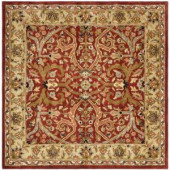 Safavieh Heritage Red/Gold 6 ft. x 6 ft. Square Area Rug