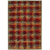 Nourison Overstock Aspects AP13 Multicolor 3 ft. 9 in. x 5 ft. 9 in. Area Rug