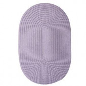 Colonial Mills Boca Raton Amethyst 10 ft. x 13 ft. Oval Braided Accent Rug