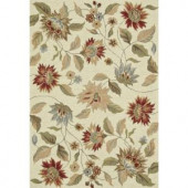 Loloi Rugs Summerton Life Style Collection Ivory Red 5 ft. x 7 ft. 6 in. Area Rug