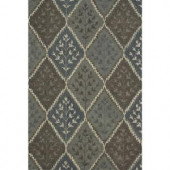 Loloi Rugs Fairfield Life Style Collection Blue Multi 7 ft. 6 in. x 9 ft. 6 in. Area Rug
