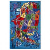 LA Rug Inc. Supreme Travel Fun Multi Colored 39 in. x 58 in. Area Rug