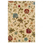 Delray Bella Ivory 1 ft. 10 in. x 2 ft. 10 in. Accent Rug