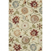 Loloi Rugs Summerton Life Style Collection Ivory Floral 5 ft. x 7 ft. 6 in. Area Rug
