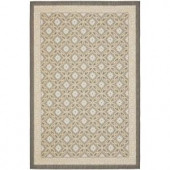 Safavieh Courtyard Anthracite/Light Grey 5.3 ft. x 7.6 ft. Area Rug