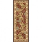 Tayse Rugs Century Multi 2 ft. 7 in. x 7 ft. 3 in. Traditional Runner