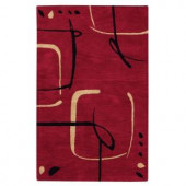 Home Decorators Collection Fragment Red 2 ft. x 3 ft. Area Rug