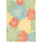 Nourison Home and Garden Daisy Ivory 7 ft. 9 in. x 10 ft. 10 in. Indoor/Outdoor Area Rug