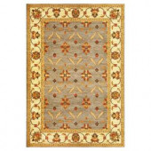 Kas Rugs State of Honor Slate/Ivory 3 ft. 11 in. x 5 ft. 3 in. Area Rug