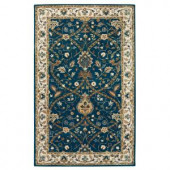 Home Decorators Collection Anatole Deep Blue and Ivory 3 ft. x 5 ft. Area Rug