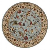 Home Decorators Collection Antoinette Wembley Blue/Beige 5 ft. 5 in. Round Area Rug