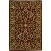 Nourison Rug Boutique Ancient Times Burgundy 3 ft. 6 in. x 5 ft. 6 in. Area Rug