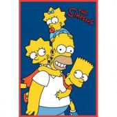 Fun Rugs The Simpsons Homer and Kids Multi Colored 19 in. x 29 in. Accent Rug