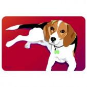 Bungalow Flooring Printed Beagle 10 18 in. x 27 in. Mat