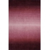 Momeni City Life Collection Plum 2 ft. 3 in. x 8 ft. Area Rug