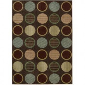 Nourison Rug Boutique Textured Circles 3 ft. 6 in. x 5 ft. 6 in. Area Rug