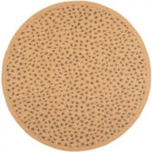 Safavieh Courtyard Natural/Gold 6.6 ft. x 6.6 ft. Round Area Rug