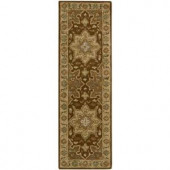 Nourison Rug Boutique Palace Treasures Chocolate 2 ft. 3 in. x 7 ft. 6 in. Runner