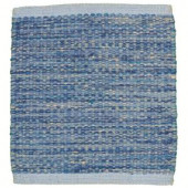 LR Resources Tribeca Blue 5 ft. x 7 ft. 9 in. Reversible Wool Dhurry Indoor Area Rug