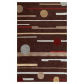 Kas Rugs Linear Rise Brown 3 ft. 3 in. x 5 ft. 3 in. Area Rug